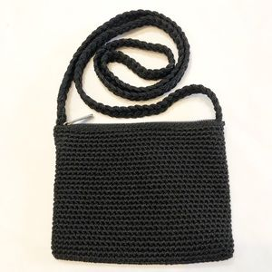 The Sak | Mini black crochet crossbody bag